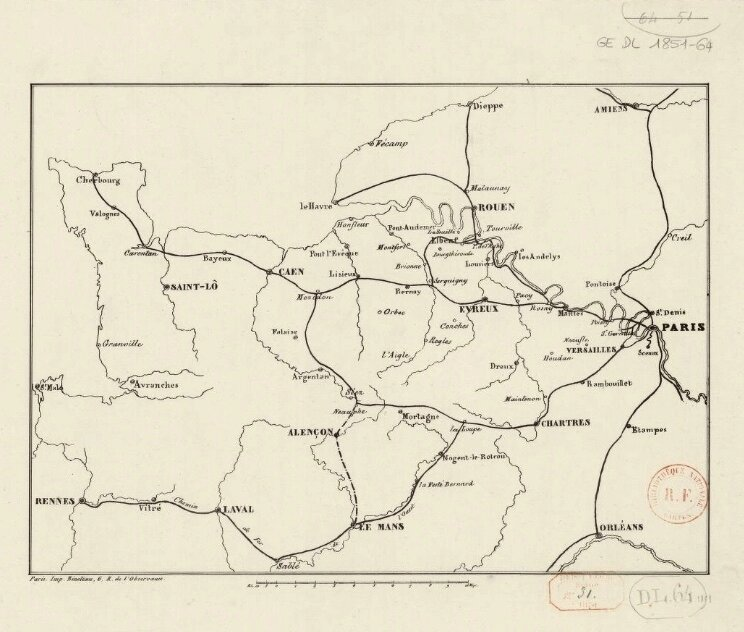 Chemin de fer de l'Ouest 1851 carte (1)