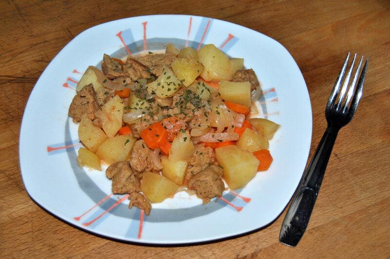 Mijoté de seitan aux carottes