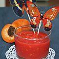 Soupe glacée à la framboise et abricot