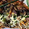 tarte aux champignons, pâte à la farine de châtaigne
