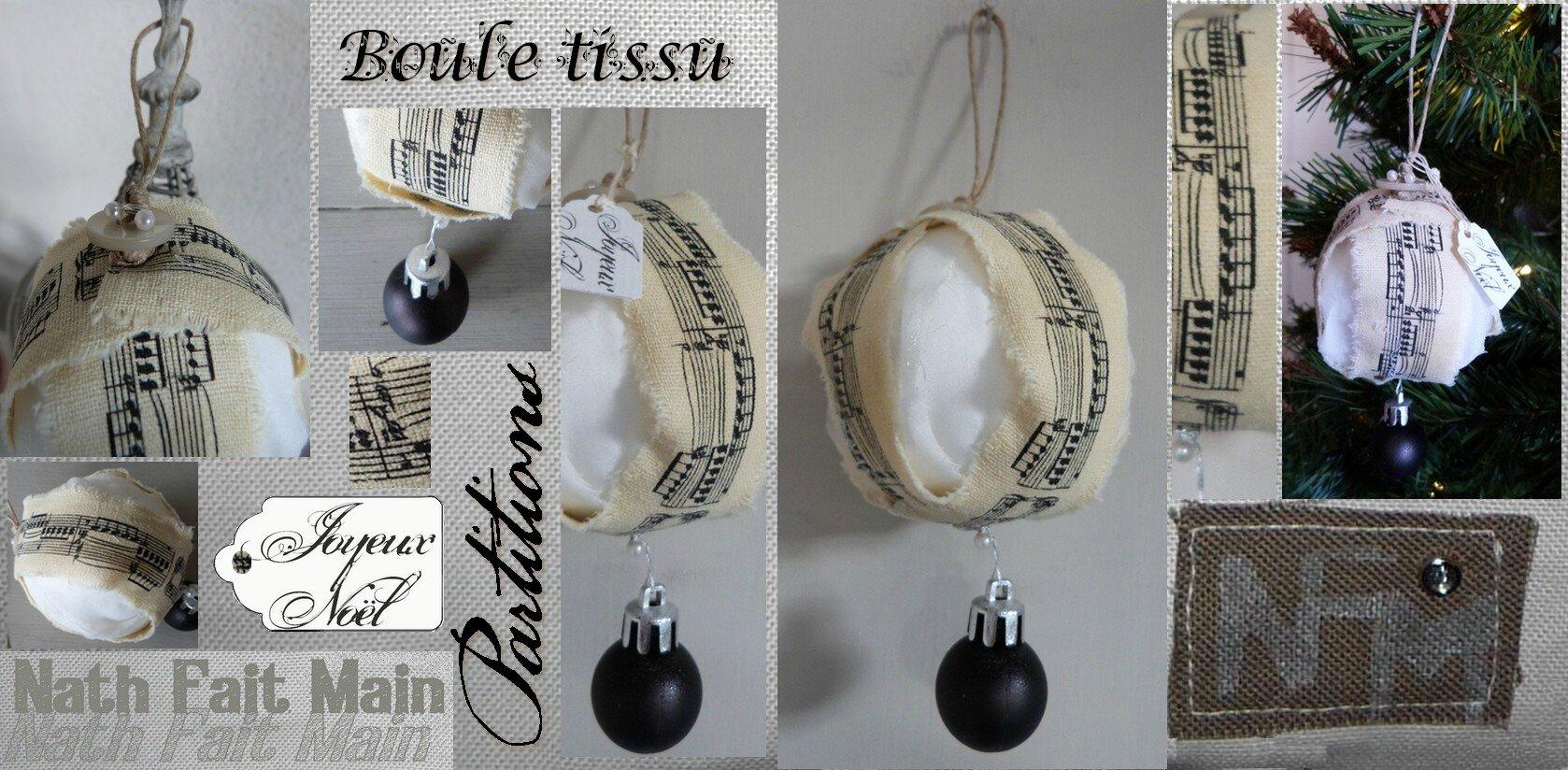 Boule Noel tissu partition (0)