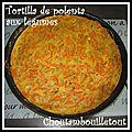 Tortilla de polenta aux légumes