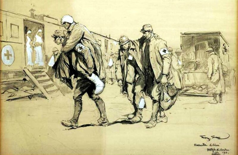 Scott évacuation des blessés Verdun 1916