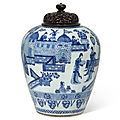 A blue and white 'ladies' vase, kangxi period (1662-1722)