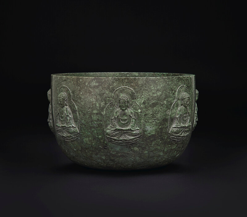 2019_NYR_16950_0844_002(a_rare_and_large_mottled_dark_green_jade_alms_bowl_qianlong_period)