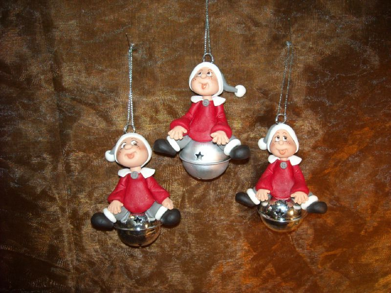 Personnages de no l en p te polym re id ecr ation - Decoration noel pate fimo ...