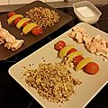Brochette de saumon tricolores (thermomix)