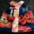 ensemble fleuri orange