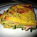 Clafoutis jambon courgettes weight watchers