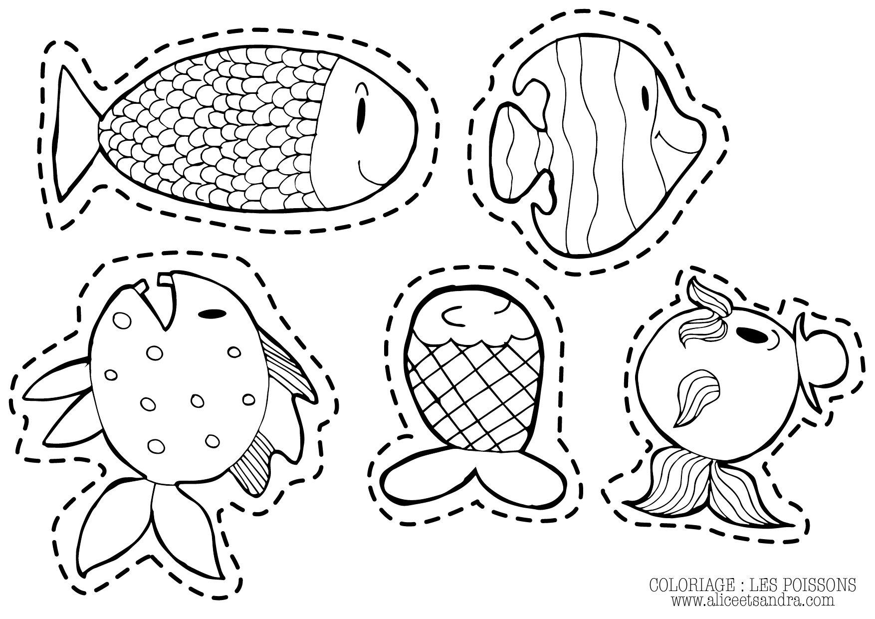 Coloriage imprimer poisson d avril alice sandra - Dessin poisson ...