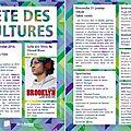 Fête des cultures 30 et 31 janvier