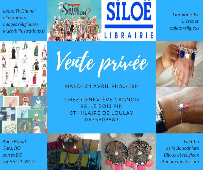 Invitation pour la vente à St Hilaire de Loulay