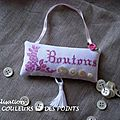 COLLECTION DE BOUTONS en rose