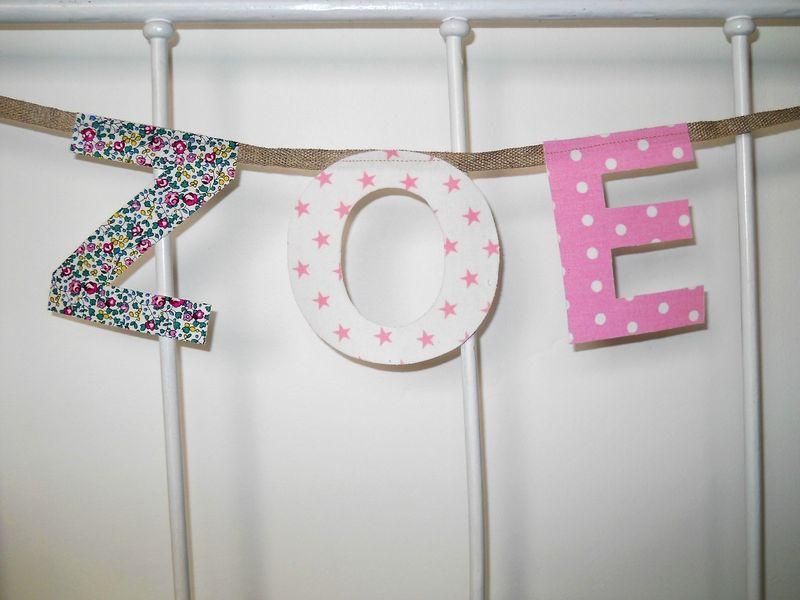 guirlande pr nom 3 lettres b b coton boutique en ligne. Black Bedroom Furniture Sets. Home Design Ideas