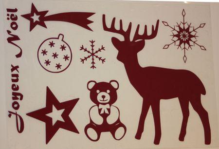 Demie planche Joyeux Noel bordeau