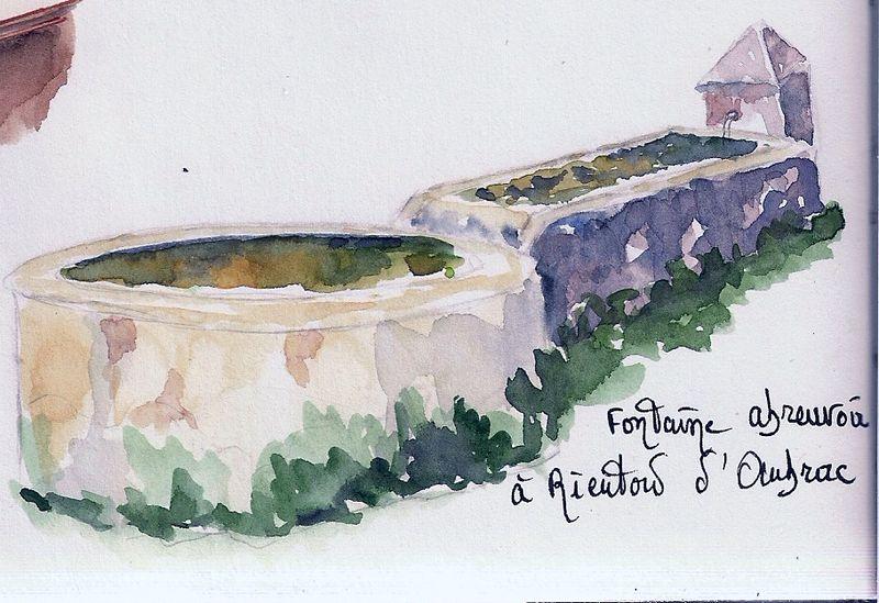 Fontaine abreuvoir -Rieutord d'Aubrac-