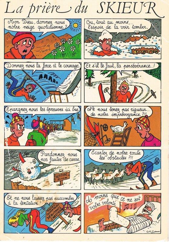 la prière du skieur