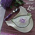 Riz au lait parfumé au lilas