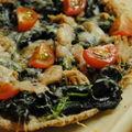 Pizza rapide épinard et thon
