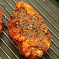 Escalopes de poulet marinées au paprika