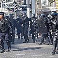 Mobilisation des forces de l'ordre aujourd'hui le 2 octobre 2019 a paris avec de nombreux syndicats de policiers