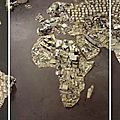 "VIk Muniz ,""WWW-World Map, Pictures of Junk"" 2008"