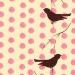 tissu_pois_rose_oiseaux200