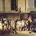 Boilly louis léopold-entrée du theatre de l'ambigu comique a une representation commique
