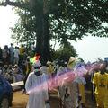 Devant le Palais du Peuple à Conakry