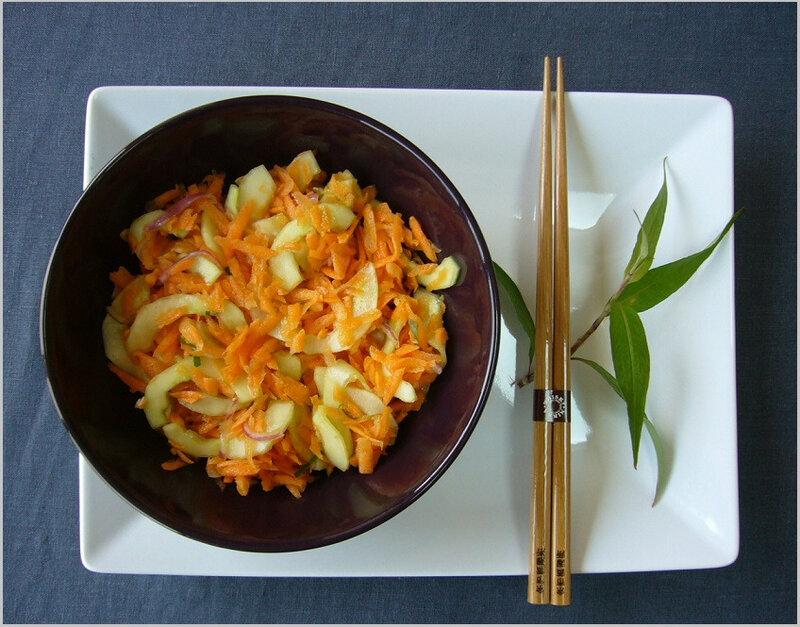 Salade carotte, concombre à la vietnamienne