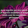 regrets passe