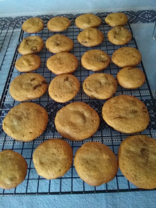 Cookies à la pâte de spéculoos 043
