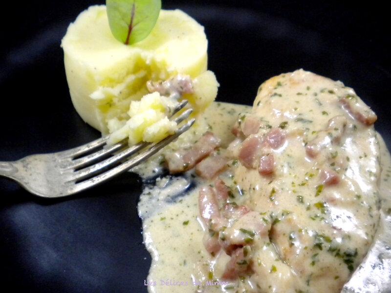 Filets de poulet aux lardons et au parmesan 4