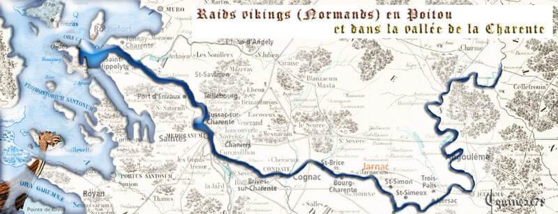 raids vikings normands en Poitou et la vallée de Charente