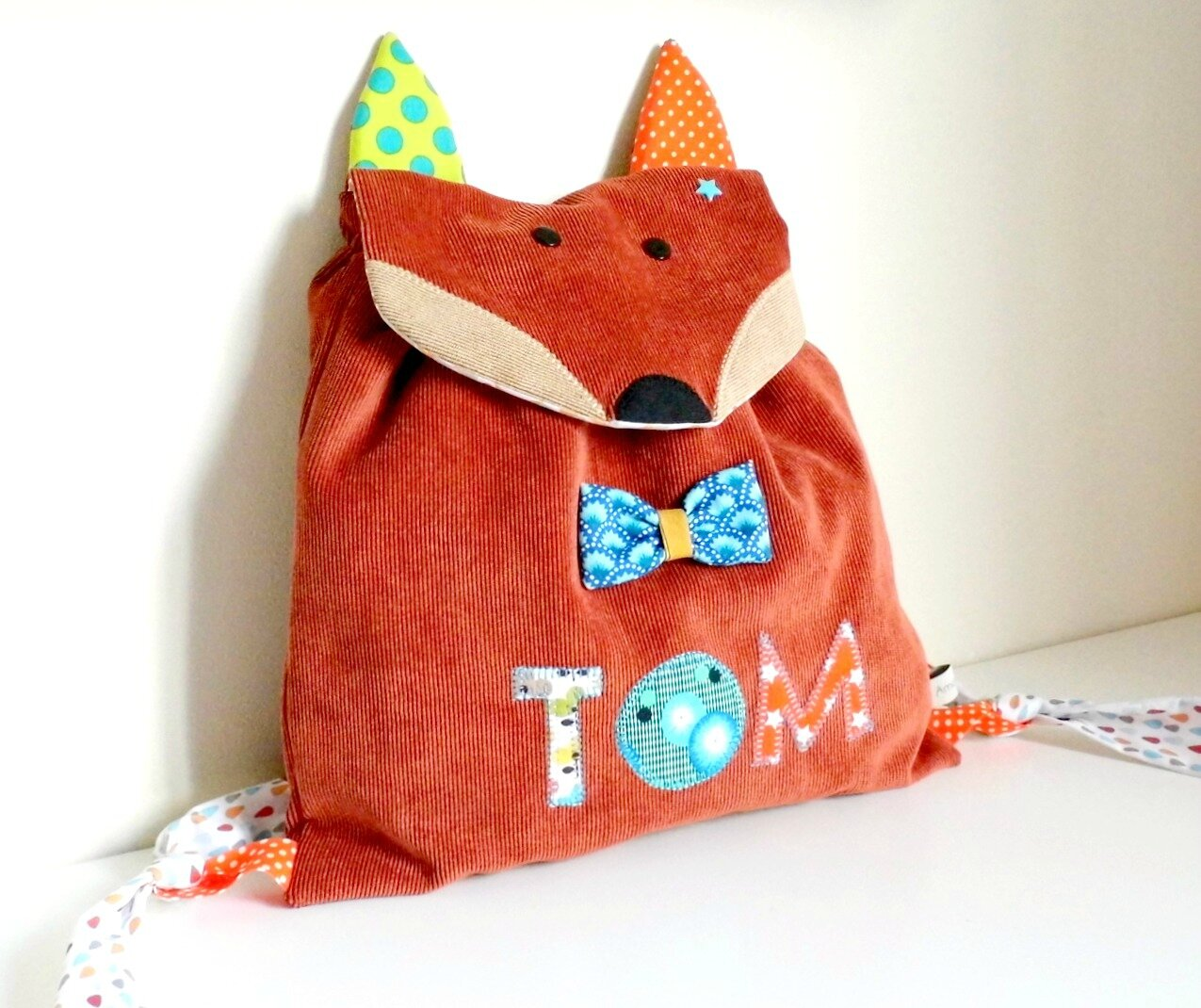 Sac maternelle personnalisable renard