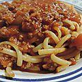 Sauce bolognaise pour les pâtes