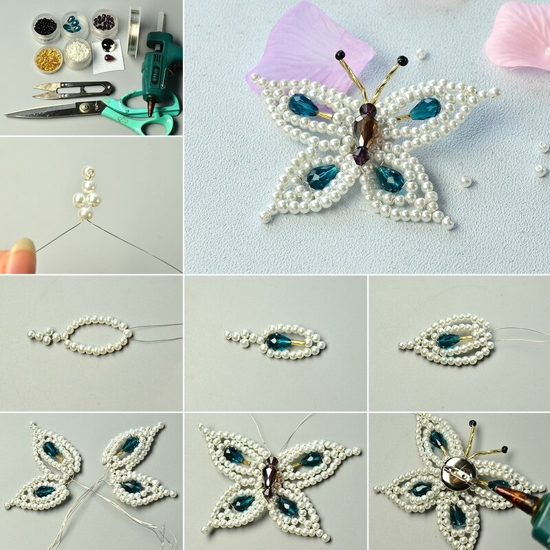 1080-How-to-Make-Elegant-Pearl-and-Drop-Glass-Beads-Butterfly-Brooch