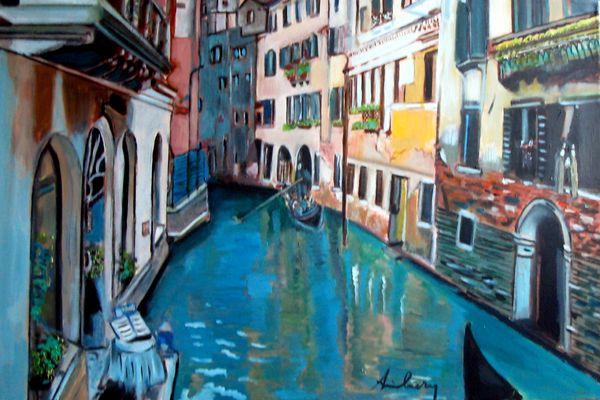 Sur les canaux de Venise