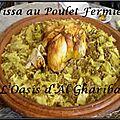 Rfissa au poulet fermier . maroc
