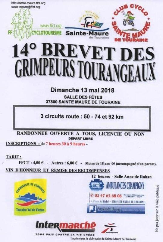 Brevte grimpeurs Ste Maure 2018