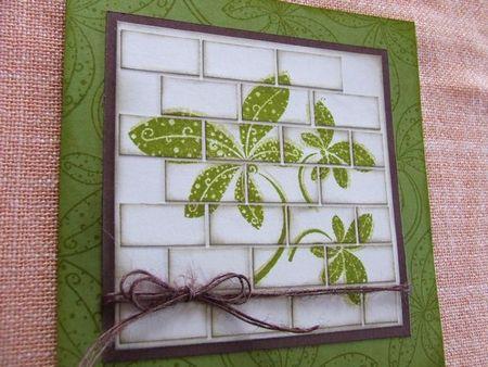 carte mur de briques vert détail 1