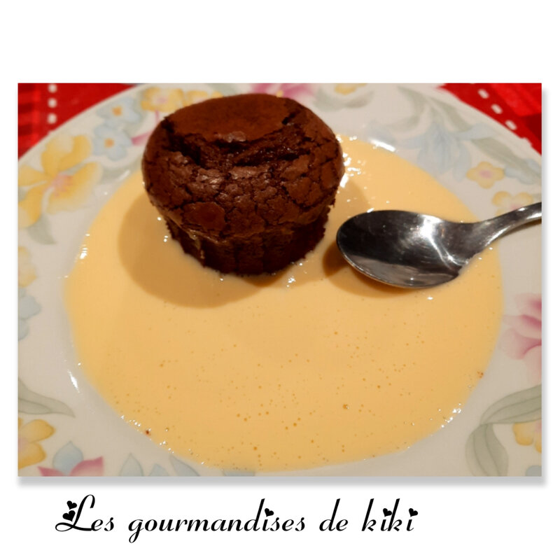 Fondant au chocolat & crème anglaise
