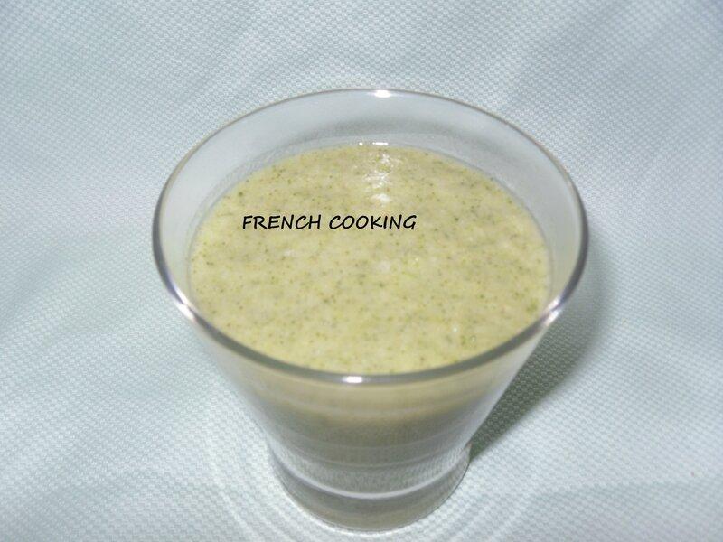 soupe de brocolis & courgette 2