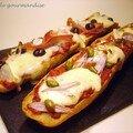 Pizza sur baguette