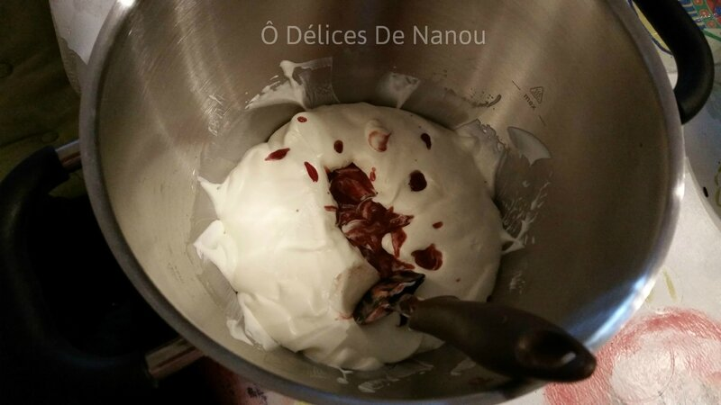 Chantilly+compote fraises