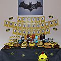 Sweet table batman - etape 1 - la décoration
