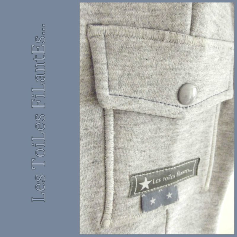 Pantalon All time favorite Ottobre gris et bleu5