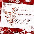 Bonne année 2013...