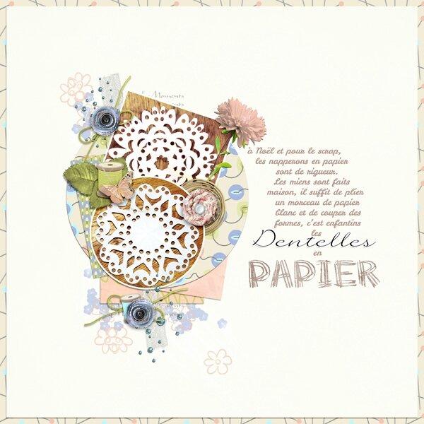 dentelles papier
