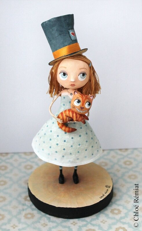 Alice et le chat du cheshire etsy 2